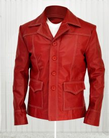 Brad Pitt Fight Club Real Leather Jacket