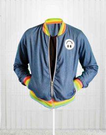 Taika WaititiI'm Tired Denim Jacket Blue