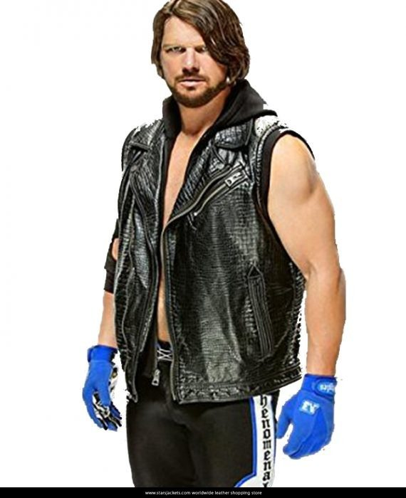 AJ-Style-WWE-Leather-Vest-570x700