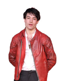Justice League Ezra Miller Primer Red Jacket