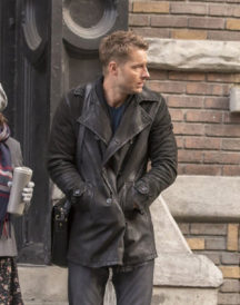 This Is Us TV series Justin Hartley Black Coat