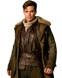 Wonder Woman Movie Chris Pine Brown Coat