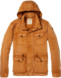 Spray Washed Brown Field Jacket