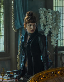 The Widow Emily Beecham Jacket Into The Badlands