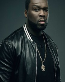 50 Cent Den of Thieves Black Leather varsity jacket