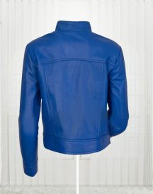 Agusta Women's Fashion Leather Blue Jackets