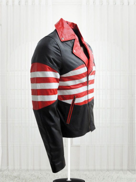 Amazing American Flag Cow Leather Jackets