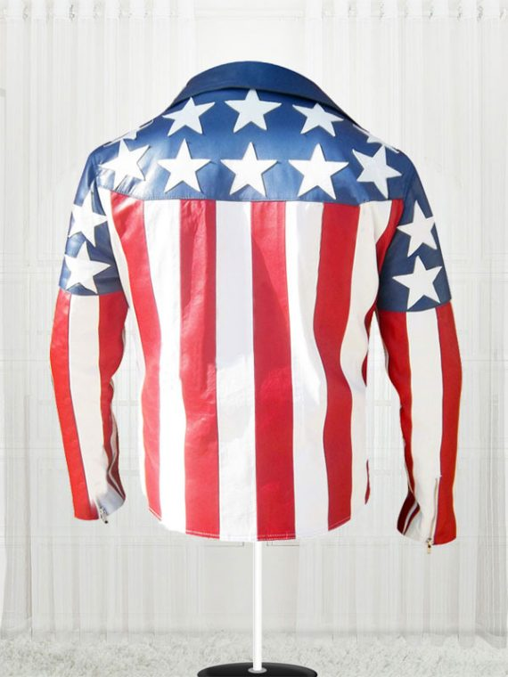 American Flag White Double Breasted Jackets