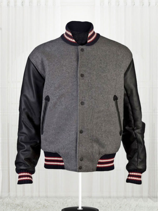 Andrew Garfield Varsity Bomber Wool Jacket
