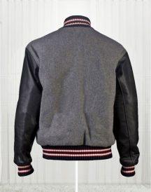 Andrew Garfield Varsity Bomber Wool Jackets