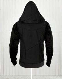 Assassins Creed Movie Callum Lynch Black Leather Hoodie