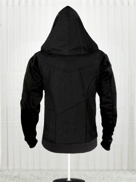 Assassins Creed Movie Callum Lynch Black Leather Hoodie
