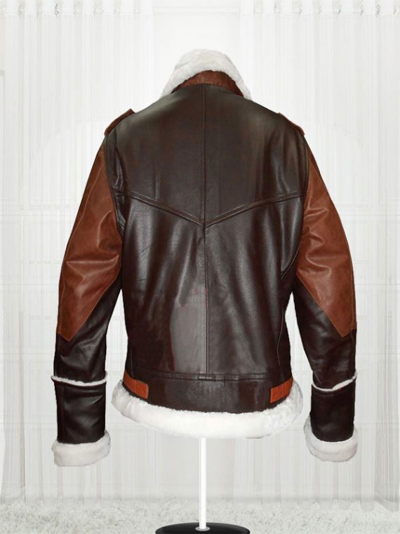B-3 Bomber Cow Hide Leather Brown Jacket