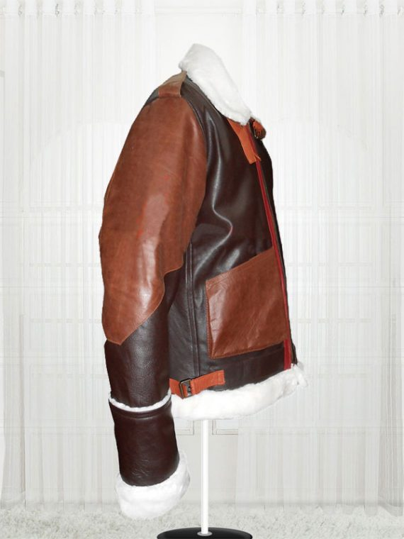 B-3 Bomber Cow Hide Leather Brown Jackets