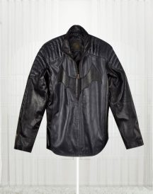 Batman Knight Black Leather Jacket