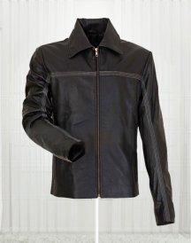 Bond 007 For Men's Black Leather Jacket