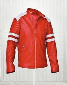 Brad Pitt FC Leather Stylish Red Jacket