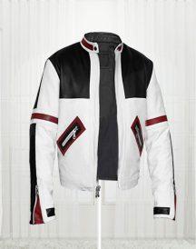 Chaser Box White Men's Motorcycle Leather Jacket