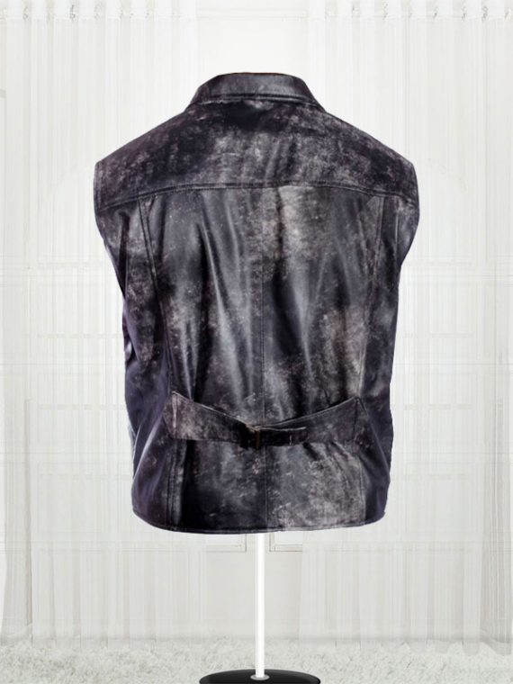 Cowboy Distressed Stylish Black Vests