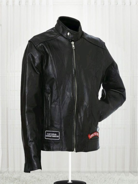 Diamond Plate Unisex Buffalo Leather Jackets