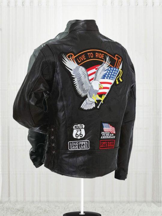 Diamond Plate Unisex Buffalo Leather Motorcycle Jackets