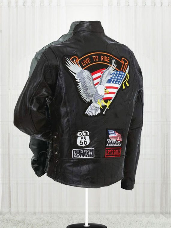 Diamond Plate Unisex Buffalo Leather Motorcycle Jackets