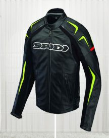 Green Detailed Sports Biker Jacket