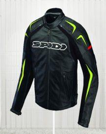 Green Detailed Sports Biker Jacket