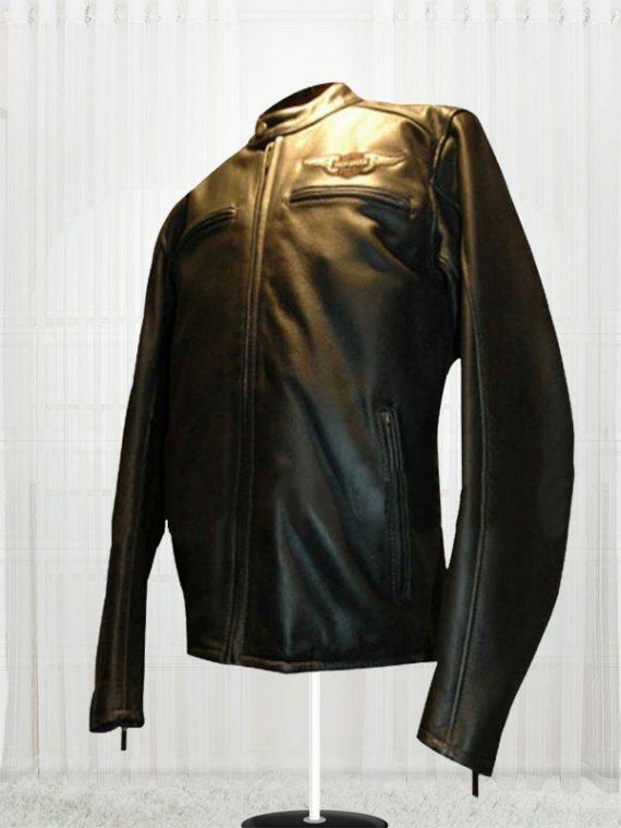 Harley Birler Davidson Black Biker Leather Jacket