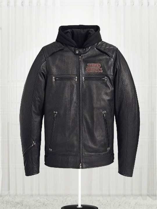 Harley Davidson Burning Skull Biker Leather Jacket