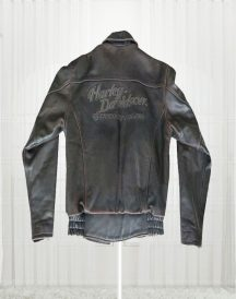 Harley Davidson Distressed Brown Biker Motorcycle Jacket