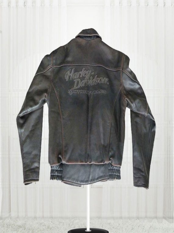 Harley Davidson Distressed Brown Biker Motorcycle Jacket