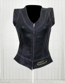 Harley Davidson Women's Great Fashion Design Leather Vest