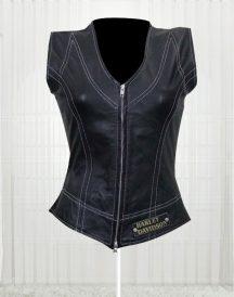 Harley Davidson Women's Great Fashion Design Leather Vest