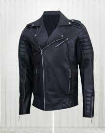Homme MR18 Kay Michael Quilted Biker Jacket