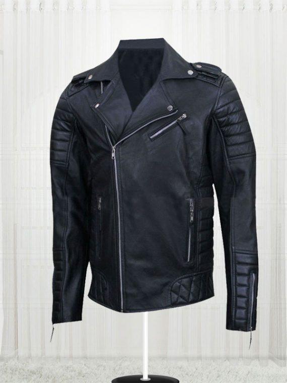 Homme MR18 Kay Michael Quilted Biker Jacket