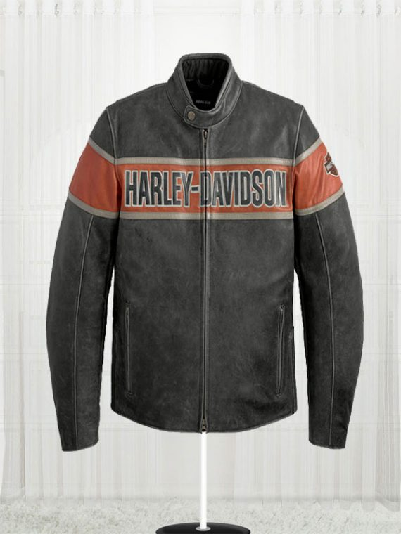 Mens Victory Harley Davidson Lane Leather Jacket