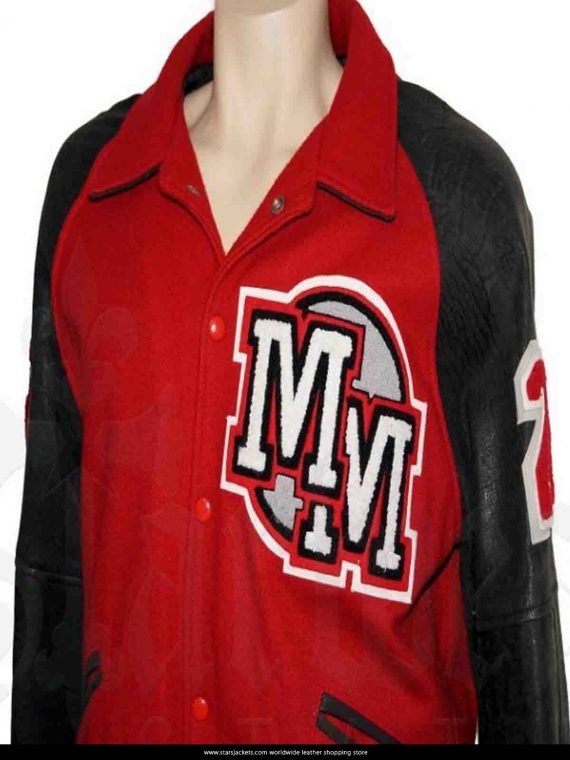Michael Jackson Mickey Mouse Club Red Varsity Jackets