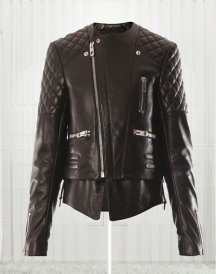 Miranda Kerr Quilted Leather Jacket