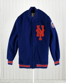 Mitchell & Ness New York Mets Royal Varsity Jacket