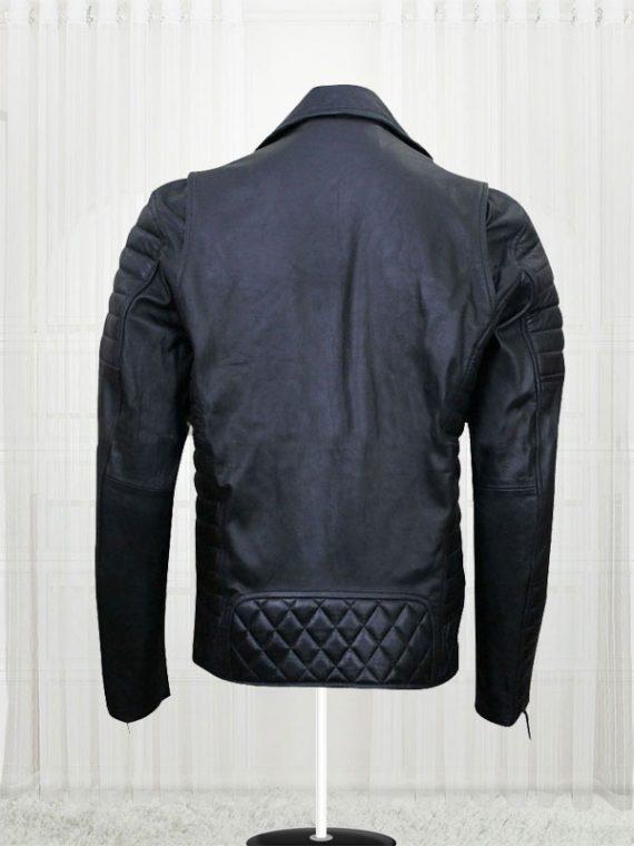 Prestige Homme MR18 Kay Michael Quilted Black Biker Jacket
