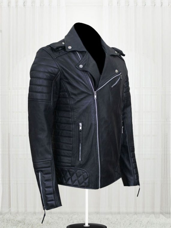 Prestige Homme MR18 Kay Michael Quilted Black Biker Jackets