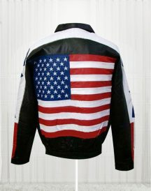 Shirt Collar Flag Leather Jackets