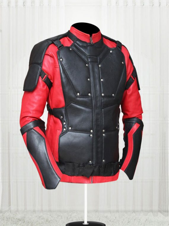 Suicide Squad Will Smith Red And Black Celebrity Jacket