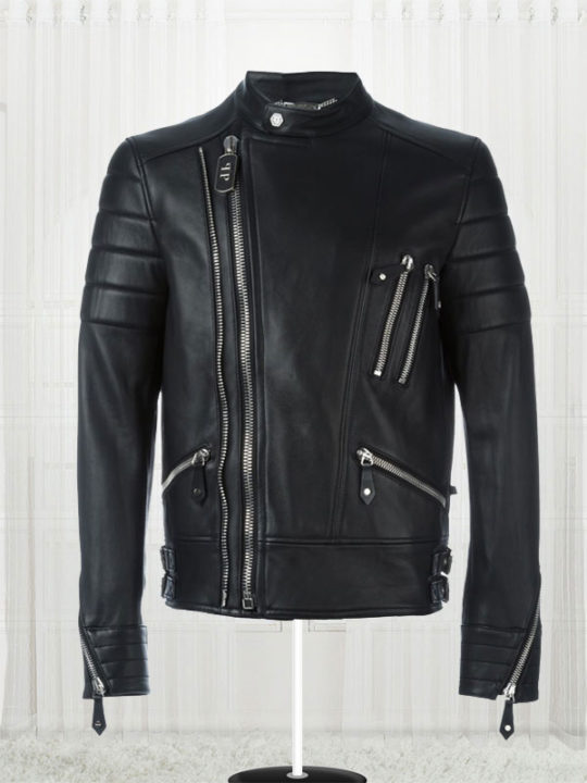 The Perfect Mix Biker Black Leather Jacket