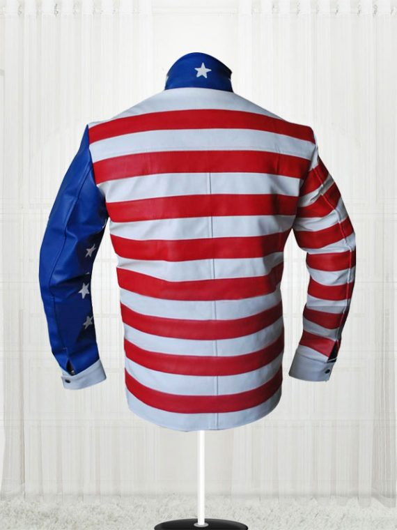 Vanilla Ice American Flag Design Jacket