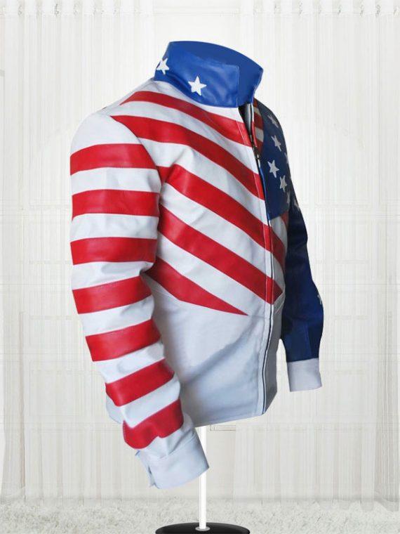 Vanilla Ice American Flag Design Jackets