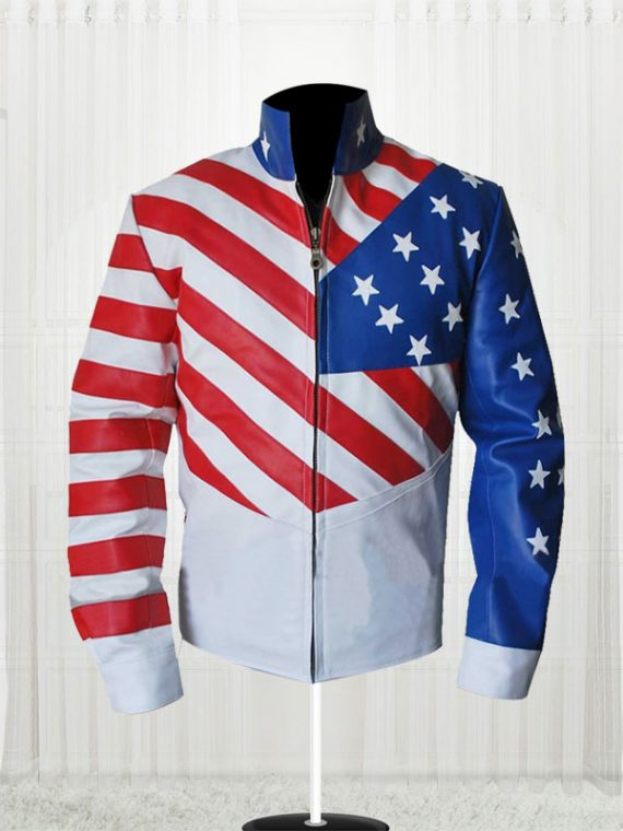 Vanilla Ice American Flag Leather Jackets