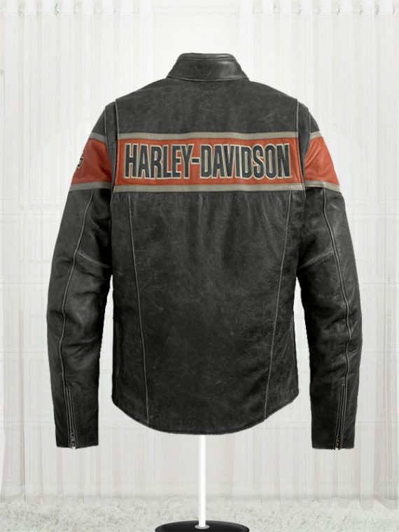 Victory Harley Davidson Lane black Leather Jacket