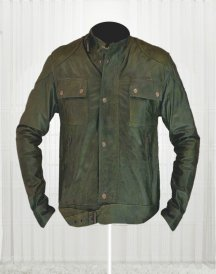 Wesley Gibson Olive Green Leather Jacket